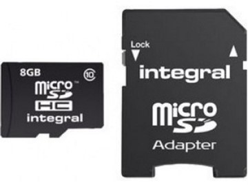 Picture of Integral microSDHC 8GB (Adapt (Class 4)