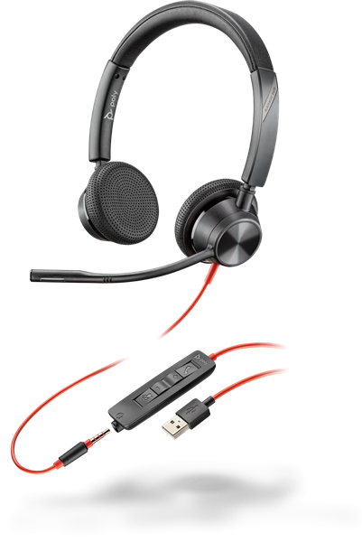 Poly Blackwire 3325-M USB-A, stereo headset